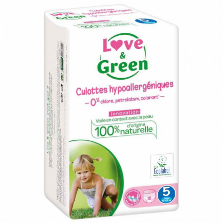 Love and Green Pack 4x18 Culottes d'apprentissage taille 5 (12 à 18 kg)