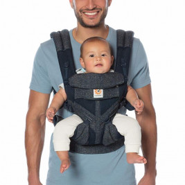 Ergobaby Omni 360 Cool Air Mesh Blue Tweed - carrier Expandable 4 Positions