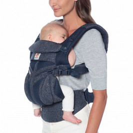 Ergobaby Omni 360 Cool Air Mesh Bleu Tweed - Porte-bébé Évolutif 4 Positions