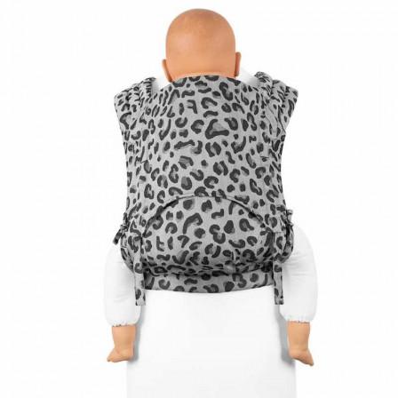 Fidella Fly Tai Leopard Silver (size-toddler) - Porte-bébé Meï-taï