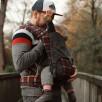 Fidella Fly Tai Chequers rouge (taille bambin) - Porte-bébé Meï-taï