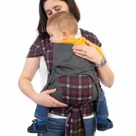 Fidella Fly Tai Chequers red (Size Baby) - Porte-bébé meï-taï