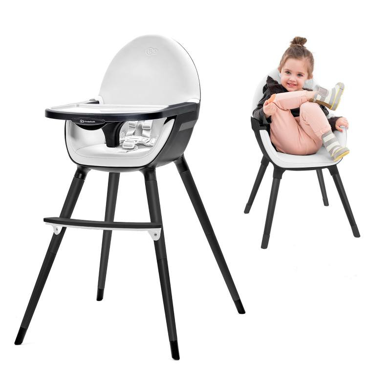 Baby Highchair Children Chair Baby Kinderkraft Fini Black White Top New