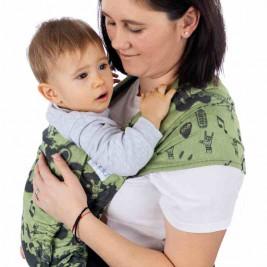 Fidella Flyclick Rock n Rolla Green (Size baby) - Bears-baby Halfbuckle