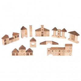 Goki Nature Jeu de construction ville - Jouet en bois
