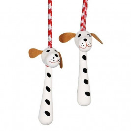 Goki skipping Rope animals with wooden handle - Set of outdoor wood