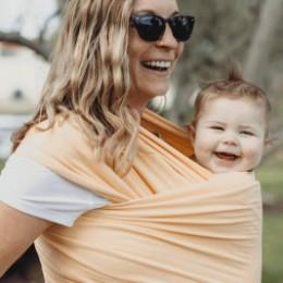 Boba Wrap Peach Sorbet - Écharpe de Portage Extensible
