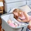 Kinderkraft UNO Gris Lit Bébé Cododo 2 en 1