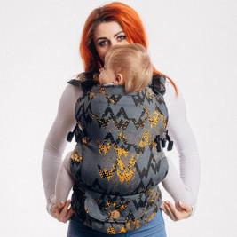 Lennylamb LennyUpGrade Standard Size WAWAGREY & MUSTARD - baby carrier