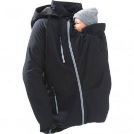 Softshell Babywearing Jacket for Men black