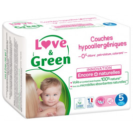 Love and Green Pack 6x40 disposable Nappies size 5 (11 to 25 kg)