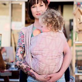 Fidella Drops Rose Sable édition limitée écharpe de portage 460 cm taille 6