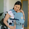 Ergobaby Adapt Bleu Ciel Rayures - Porte-bébé Évolutif