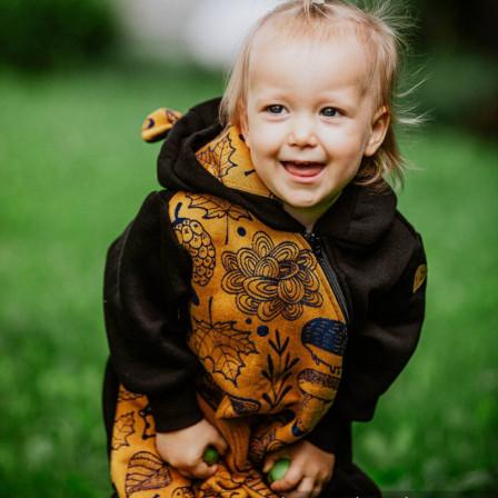Lennylamb Combinaison de portage Noir - Under the Leaves Golden Autumn