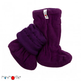 Manymonths Slippers portage winter wool Merinos Black / Silver Cloud