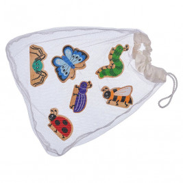 Bag of 6 Insects wooden Lanka Kade