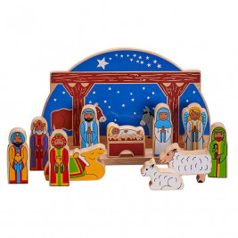 Bag of 6 Christmas characters wooden Lanka Kade
