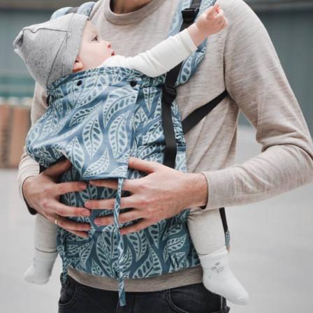 Limas Flex Valerie Dark Mint porte bébé physiologique en coton bio