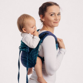 LennyLamb Obuhimo Toddler Back Carrier Peacock's Tail Provance