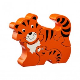 Puzzle Tigre et bébé en bois Lanka Kade