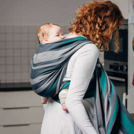 Lennylamb Smoky Mint - baby carrier twill broken