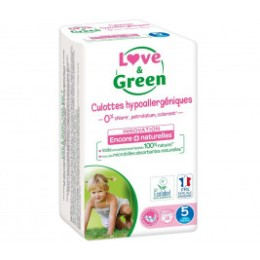 Love and Green Culottes d'apprentissage taille 5 (12 à 18 kg) x18
