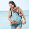 Limas Flex Turquoise porte bébé physiologique en coton bio