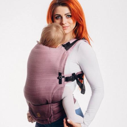 Lennylamb LennyUpGrade Little Herringbone Ombre Pink Porte-bébé ajustable