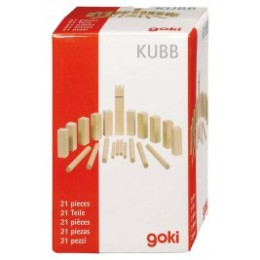 Mini Kubb game viking wood