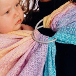 Lennylamb Sling Littlelove Candyland - baby carrier Sling 1.8
