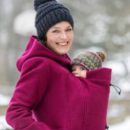 Mamalila babywearing - Hooded coat Berry