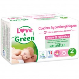 Love and Green Couches jetables taille 2 (3 à 6 kg) x 44