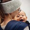 Limas Plus Dark Denim porte bébé physiologique en coton bio
