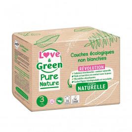 Pure Nature Couches certifiées Ecolabel et hypoallergéniques T3 x 42