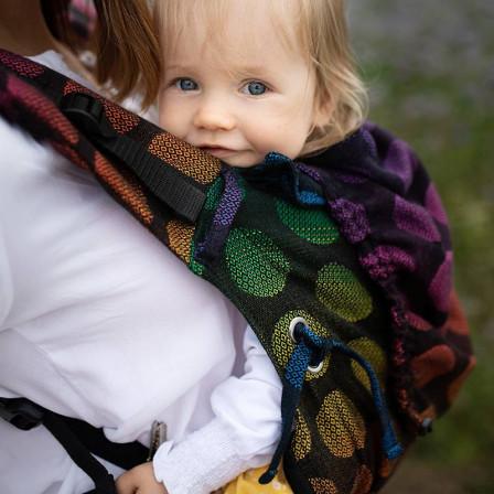 Kinder Hop Multi Soft Dots Rainbow porte-bébé préformé évolutif