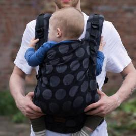 Kinder Hop Multi Grow Carrier Dots Dark Grey adjustable baby carrier