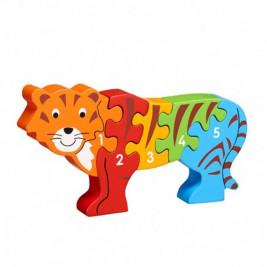 Puzzle Tigre 1-5 en bois Lanka Kade