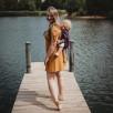 Limas Flex Flora Poppy Pink porte bébé physiologique en coton bio