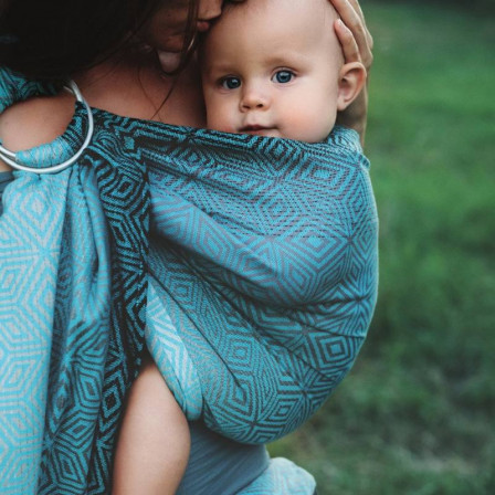 Little Frog Ring Sling - Stormy Cube