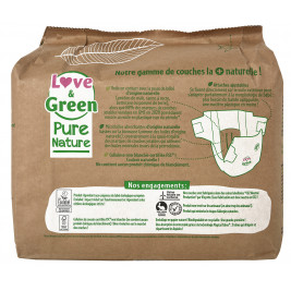 Pure Nature Couches certifiées Ecolabel et hypoallergéniques T1 x 32