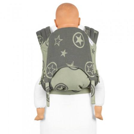 Fidella Fly Tai Outer Space Vert Porte-bébé Meï-taï taille bambin