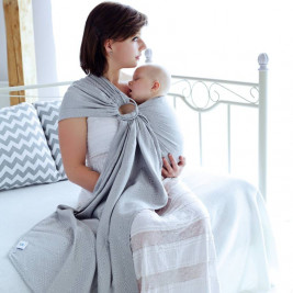 Little Frog Baby ring sling Grey Cube