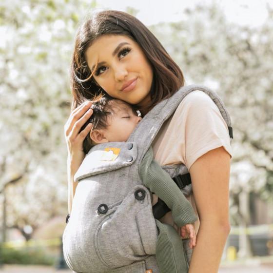 Tula Explore Linen Ash Porte bébé face au monde