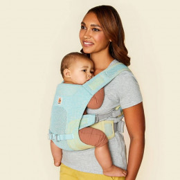 Ergobaby porte-bébé Aerloom Turquoise-Jaune portage ventral
