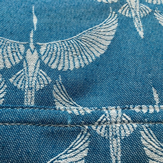 Emeibaby Easy Babysize Crane Aqua détails tissu