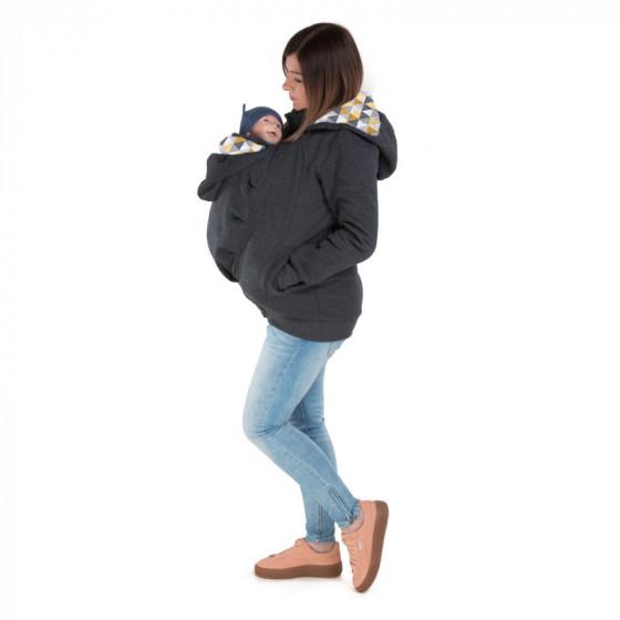Naturiou Sweat de portage et de grossesse Graphite Mustard