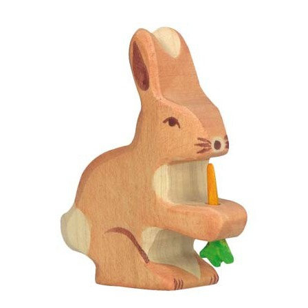 Lapin avec carotte Holztiger