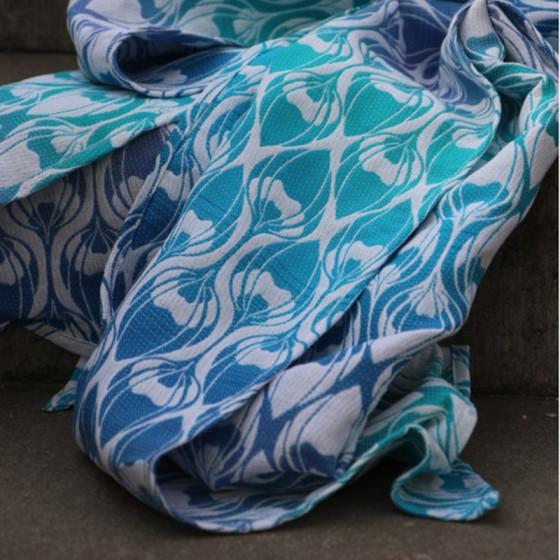 Yaro Slings La Fleur Trinity Atlantic Rainbow Linen Hemp - Écharpe de portage tissée