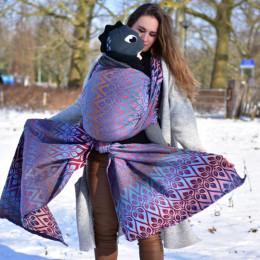 Yaro Slings La Vita Trinity Lavender Rainbow High Wool - Écharpe de portage tissée