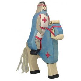 Chevalier bleu avec manteau à cheval Holztiger